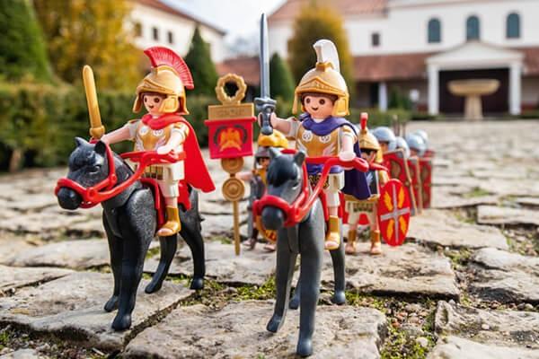 Ausstellung »VENI VIDI PLAYMOBIL®« in der Römischen Villa Borg, Perl