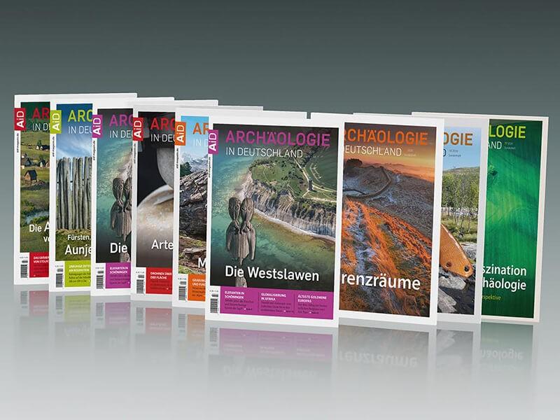 Ausgaben der Fachzeitschrift Archäologie in Deutschland